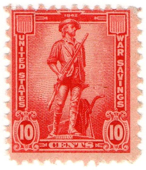 (I.B) US Revenue : War Savings Stamp 10c