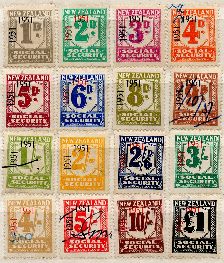 (I.B) New Zealand Revenue : Social Security Collection (1951)