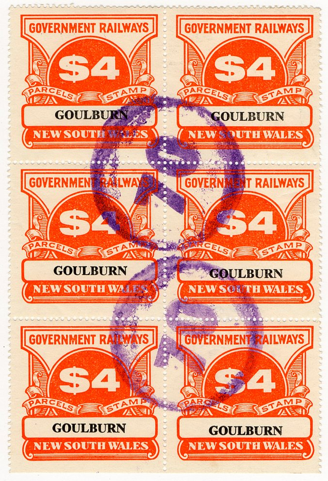 (I.B) Australia - NSW Railways Parcel $24 (Goulburn)