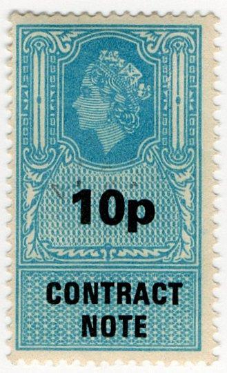 (I.B) Elizabeth II Revenue : Contract Note 10p