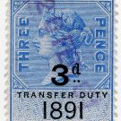 (I.B) QV Revenue : Transfer Duty 3d (1891)