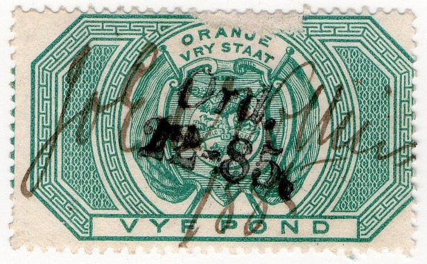 (I.B) Orange Free State Revenue : Legacy Duty £5
