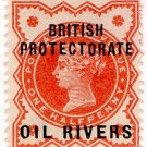 (I.B) Niger Coast Postal : Oil Rivers ½d OP