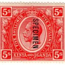 (I.B) KUT Postal : Kenya & Uganda 5/-