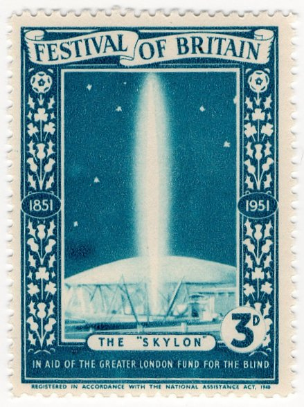 (I.B) Festival Of Britain 1951 : Skylon 3d