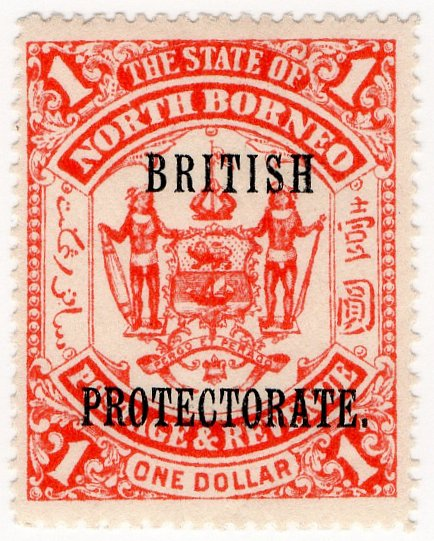 (I.B) British North Borneo Postal : British Protectorate $1