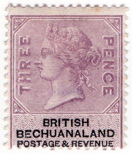 (I.B) British Bechuanaland Revenue : Duty 3d