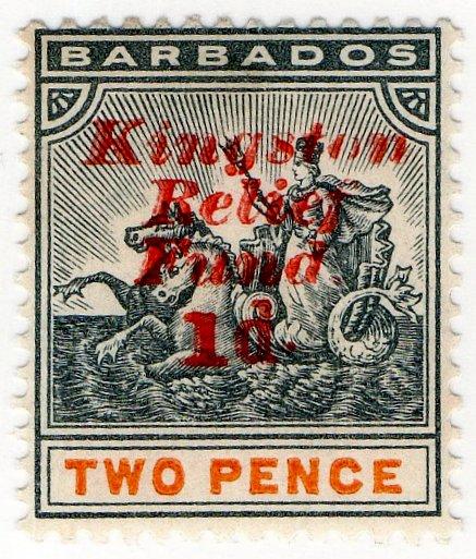(I.B) Barbados Postal : 2d Kingston Relief Fund