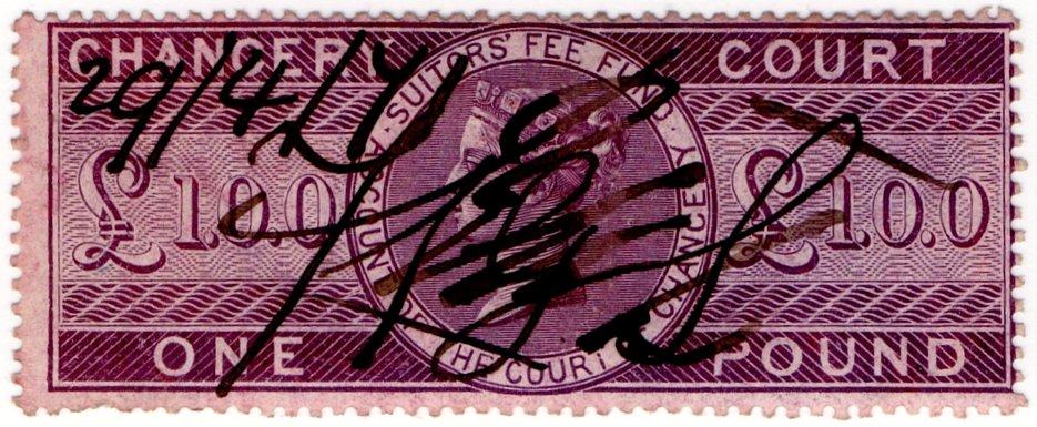 (I.B) QV Revenue : Chancery Court £1 (1857)