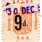 (I.B) Guernsey Revenue : Sales Tax 9d (German Occupation)