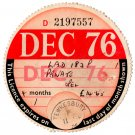 (I.B) GB Revenue : Car Tax Disc (Opel 1976)