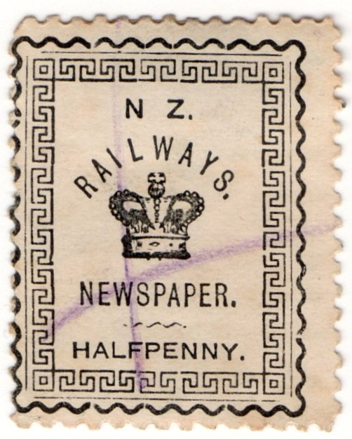 (I.B) New Zealand Railways : Newspaper Stamp ½d