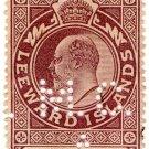 (I.B) Leeward Islands Revenue : Fees 6d (MCA perfin)
