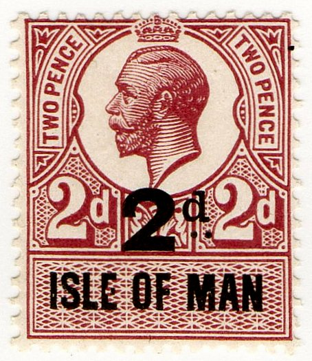 (I.B) George V Revenue : Isle of Man 2d