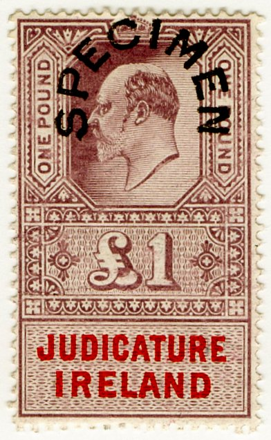 (I.B) Edward VII Revenue : Judicature Ireland £1