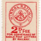 (I.B) Wirral Railway : Letter Stamp 2d