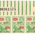 (I.B) Belgium Revenue : Duty 20c