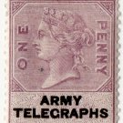 (I.B) QV Telegraphs : Army Telegraphs 1d