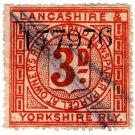 (I.B) Lancashire & Yorkshire Railway : Newspapers 3d