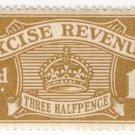 (I.B) Excise Revenue : 1½d Bistre (1916)