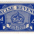 (I.B) Excise Revenue : 4½d Blue (1934)