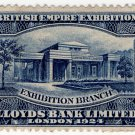(I.B) British Empire Exhibition : Lloyds Bank Stamp