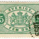 (I.B) Sweden Revenue : Service Stamp 5 Öre