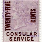 (I.B) QV Revenue : Consular Service 25c on 3d