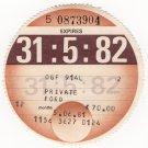 (I.B) GB Revenue : Car Tax Disc (Ford 1982)