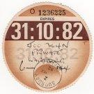 (I.B) GB Revenue : Car Tax Disc (Wartburg 1982)