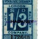 (I.B) North London Railway : Parcel 1/3d (Hackney)