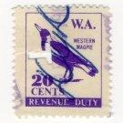 (I.B) Australia - Western Australia Revenue : Duty 20c