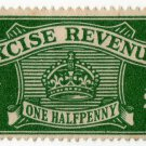 (I.B) Excise Revenue : ½d Green (1934)