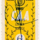 (I.B) Rhodesia Cinderella : Central African Airways Letter 6d