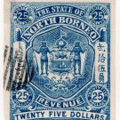(I.B) North Borneo Revenue : State Duty Stamp $25