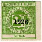 (I.B) Manchester & Milford Railway : Letter Stamp 2d