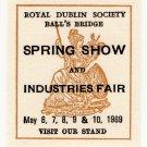 (I.B) Ireland Cinderella : Dublin Spring Show 1969