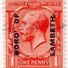(I.B) George V Commercial Overprint : Borough of Lambeth