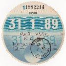 (I.B) GB Revenue : Car Tax Disc (Leyland Goods 1989)