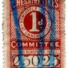 (I.B) Cheshire Lines Committee Railway : Newspaper Stamp 1d