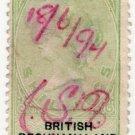 (I.B) British Bechuanaland Revenue : Duty 10/-
