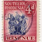 (I.B) Southern Rhodesia Revenue : Duty Stamp 4d