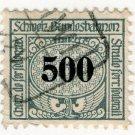 (I.B) Switzerland Railways : State Railways 500f