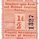 (I.B) Stratford-upon-Avon & Midland Junction Railway : Newspapers ½d