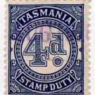 (I.B) Australia - Tasmania Revenue : Stamp Duty 4d (inverted watermark)