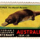 (I.B) Australia Cinderella : Victoria Centenary 1934 (Platypus)