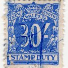 (I.B) Australia - NSW Revenue : Stamp Duty 30/-