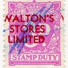 (I.B) Australia - NSW Revenue : Stamp Duty 3d (Walton's Stores overprint)