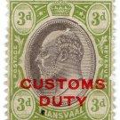 (I.B) Transvaal Revenue : Customs Duty 3d