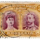(I.B) Rhodesia/BSAC Postal : Double Head 3d